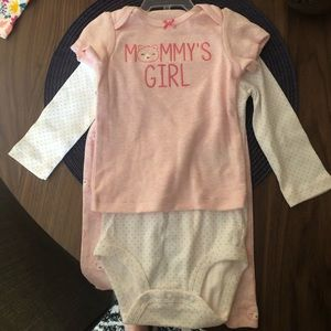 Baby Girl 3 Piece Outfit Set